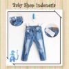 Celana Panjang Jeans Slim Fit Ripped Blue  medium