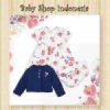Dress Cardigan Bayi Navy Flower  medium