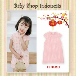 Dress Imlek Simply Style Knit Pink  large
