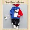 Hoodie Anak Lengan Panjang Red and Blue  medium