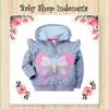 Jaket Anak Hoodie Grey Butterfly  medium