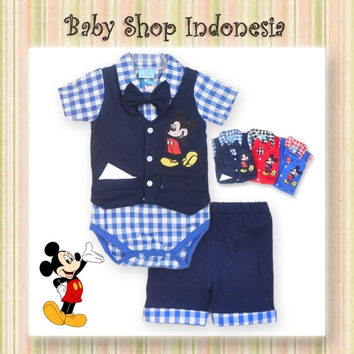 a923c9e45 Setelan Baju Bayi Murah Jumpsuit Baju Bayi Mickey