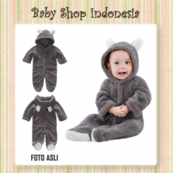Jumpsuit Bayi Grey Bear  large