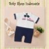 LJ153 Jumpsuit Import Bayi Baju Bayi Putih Jumpsuit Bayi Laki laki Putih Croc  medium