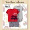 LU592 Setelan Baju 3 in 1 Merah  medium