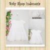 PD487 Dress Putih Brocade Skirt  medium