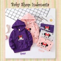 PK192 Sweater Hoodie Anak Impor Kaos Anak Lengan Panjang Hoodie Minni Friend  large
