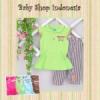 PU373 Setelan Kaos Cute Runs in the Family 68 Hijau copy  medium