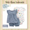 PU600 Setelan Baju Bayi Import 3in1 Jumpsuit Bayi Tshirt Anak Branded Denim Chrysant  medium