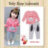 Setelan Baju Red Bunny  medium