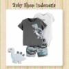 Setelan Jumpsuit Gray Dino  medium