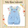 Setelan Kaos Light Blue Flower  medium