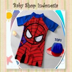 W079 Baju Renang Anak Import Murah Baju Renang Anak Laki Laki Superhero Spiderman  large