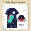 W089 Baju Renang Anak Laki laki Navy Blue Little Baby Dino Swimsuit Diving Anak Import Dinosaurus  medium