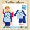 W093 Baju Renang Anak Laki laki Lengan Panjang Baju Renang Anak Cowok with Arm Circle Light Blue Shark 8  medium
