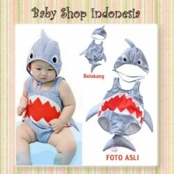 W099 Baju Renang Baby Shark Baju Renang Anak Import Grey Shark  large
