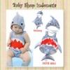 W099 Baju Renang Baby Shark Baju Renang Anak Import Grey Shark  medium