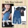 baju anak import celana overall anak celana softjeans anak celana pendek anak setelan anak import baju anak branded lnice overall celana anak dark blue jeans  medium