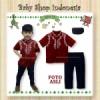 baju koko merah  medium