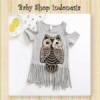 blouse grey owl  medium
