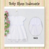dress kaos putih new  medium