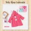 jaket bunny merah  medium