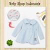 jaket kerah cat biru  medium