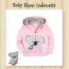 jaket perempuan Pink Koala  medium