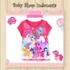 kaos pony pink baru  medium