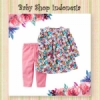 setelan carters pink flowers  medium