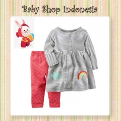setelan carters rainbow  large