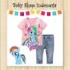 setelan ponny pink  medium