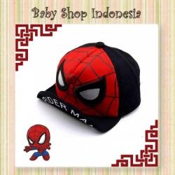 topi spiderman hitam  large